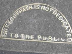 Not a public footpath