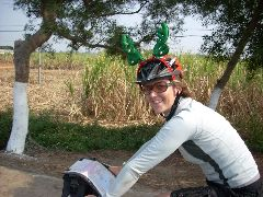 Rudolph on bike