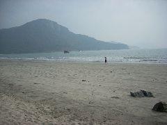Near-deserted beach