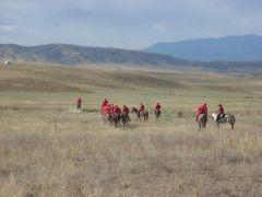 Kazakh horsemen