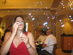 Ronelle Blowing Bubbles