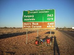 1519km to Adelaide