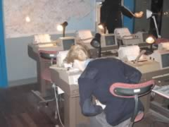 Operator slumped over desk