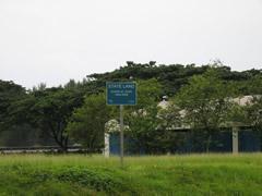 State land warning sign