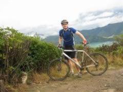 Muddy cyclist