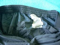 Tattered bike shorts