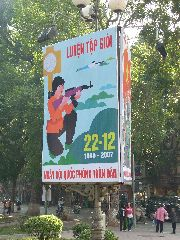 Hanoi women with guns poster